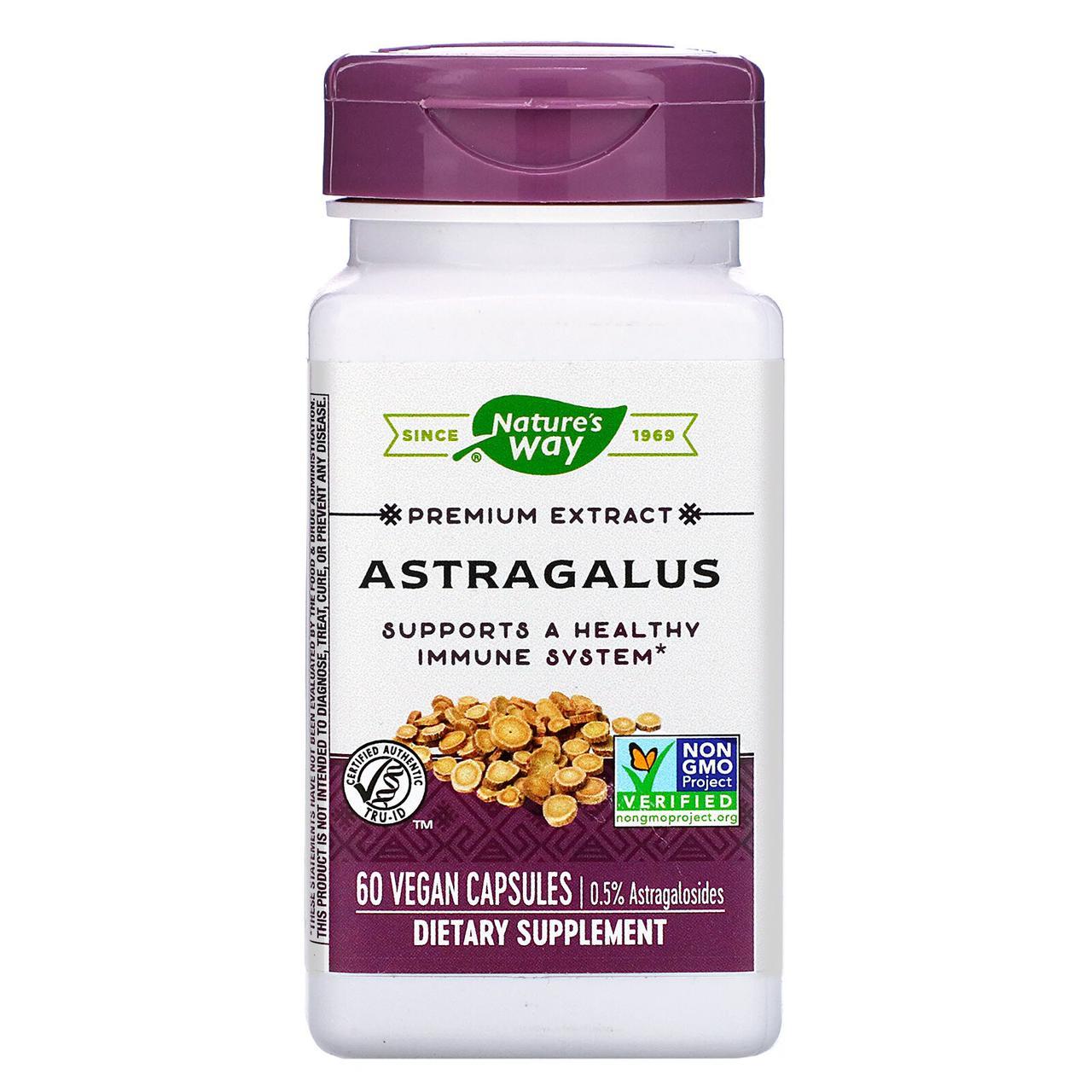 """Астрагал Nature's Way """"Astragalus"""" стандартизированный экстракт, 500 мг (60 капсул)"""