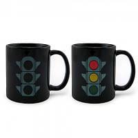 Чашка-хамелеон Светофор (черная)