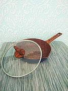 Сковорода з гранітним покриттям 26 см + з кришкою