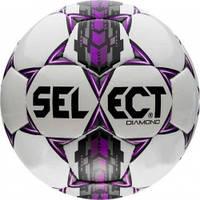 М'яч футбольний SELECT Diamond бел/сер/крас розмір 3