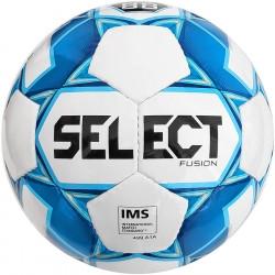 М'яч футбольний SELECT Fusion IMS (012) бел/голуб, розмір 5