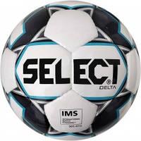 М'яч футбольний SELECT Delta IMS (015) білий/сірий розмір 5