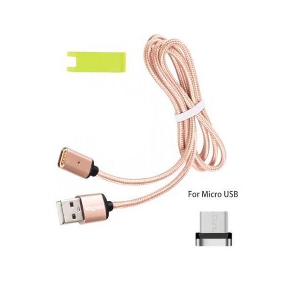 Магнитный USB кабель Magneto для Android и устройств с micro-usb Розовый