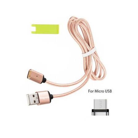 Магнитный USB кабель Magneto для Android и устройств с micro-usb Розовый, фото 2