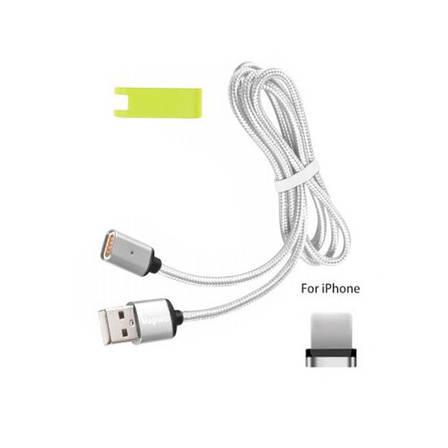 Магнитный USB кабель Magneto для iPhone Серебро, фото 2