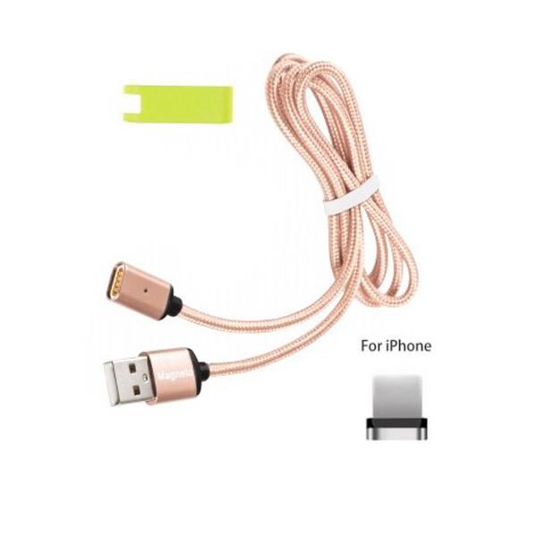 Магнитный USB кабель Magneto для iPhone! Розовый