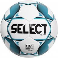 Мяч футбольный SELECT Team FIFA (015) бел/син, размер 5