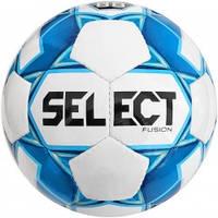 Мяч футбольный SELECT Fusion (012) бел/голуб, размер 4