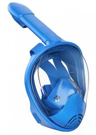 Маска для снорклинга Aolais размер L/XL, синяя, фото 2