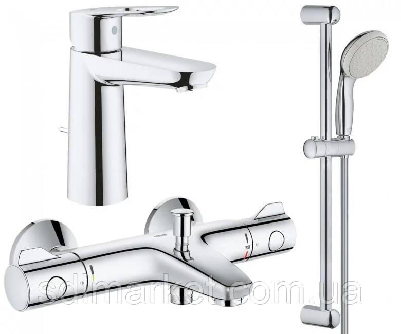 Набор смесителей GROHE Grohtherm 800 34550TM для ванной 3 в 1