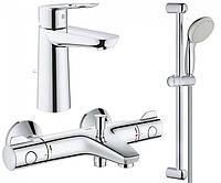Набор смесителей GROHE Grohtherm 800 34550TM для ванной 3 в 1, фото 1
