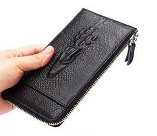 Мужской клатч кошелек портмоне Alligator Black + Фитнес браслет Band M4 в ПОДАРОК!!!, фото 3