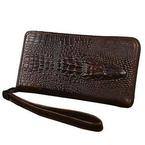 Мужской кошелек-портмоне  Alligator коричневый, фото 2