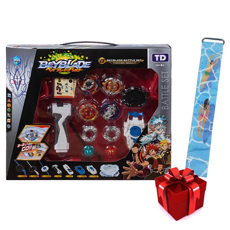 Набор BEYBLADE Battle Set + детские наручные LED-часы Paper Watch Aqua