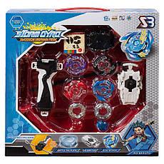 Набор BEYBLADE Storm Gyro v1 + детские наручные LED-часы Paper Watch Aqua, фото 2
