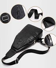 Новая мужская сумка слинг Alligator Black  + В ПОДАРОК Кошелек портмоне Alligator Black!!!, фото 2
