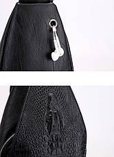 Новая мужская сумка слинг Alligator Black  + В ПОДАРОК Кошелек портмоне Alligator Black!!!, фото 3