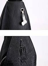Новая мужская сумка слинг Alligator Brown  + В ПОДАРОК Кошелек портмоне Alligator Brown!!!, фото 3