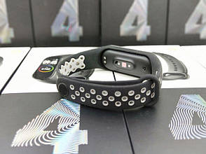 Ремешок для фитнес-браслета Mi Band 4 - Серо-черный, фото 2