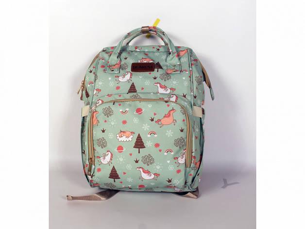 Рюкзак для мам единорог мятный, фото 2