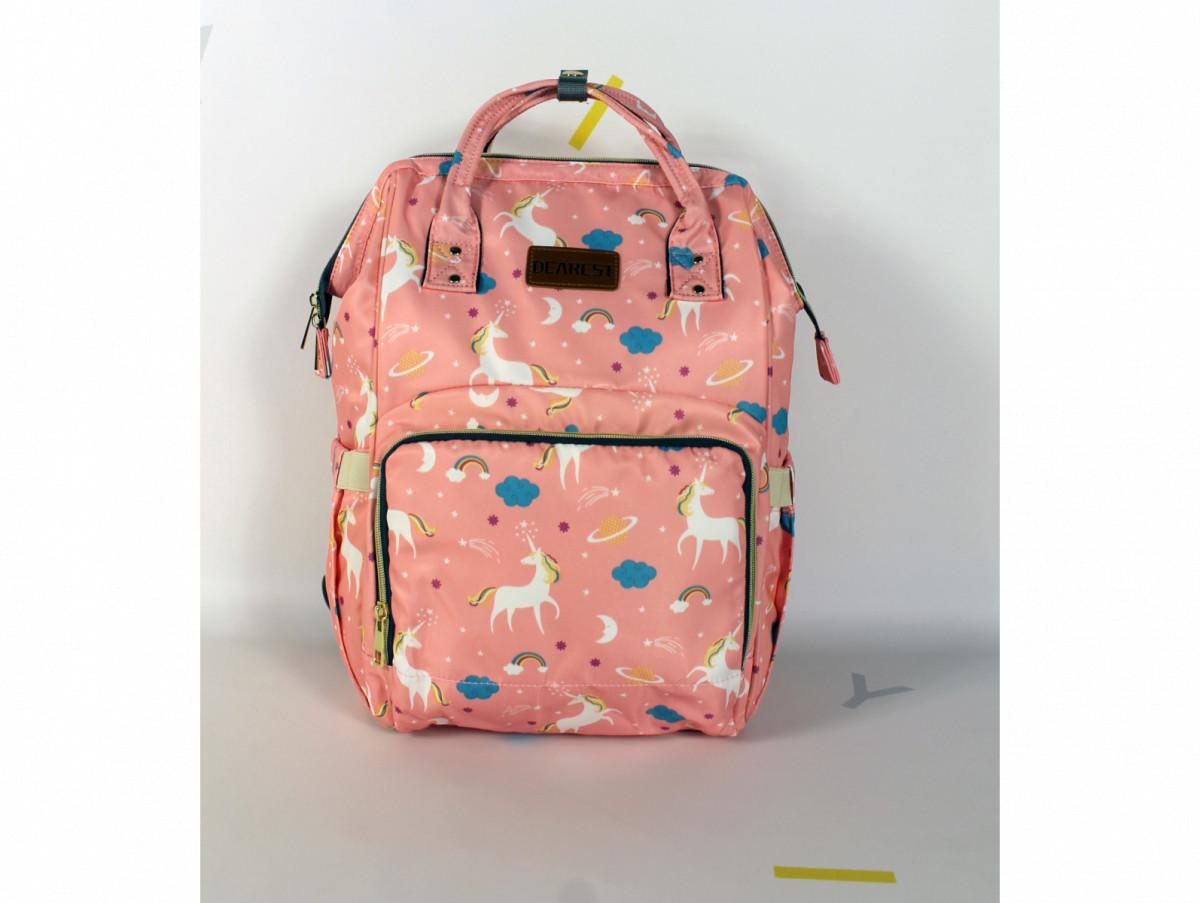 Рюкзак для мам единорог розовый