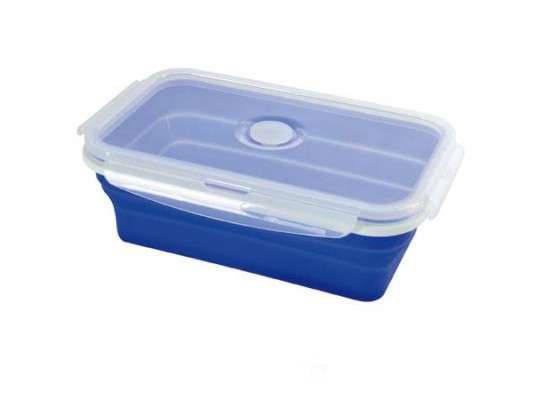 Силиконовый контейнер для пищи Синий, фото 2