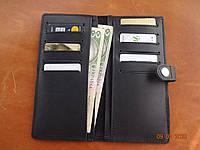 Кожаный женский кошелек black1, фото 1