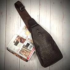 Стильная мужская сумка слинг Alligator Brown  + В ПОДАРОК ХИТ сезона Фитнес браслет Band M4!!!, фото 2