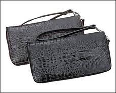 Стильный портмоне Alligator Brown для настоящих мужчин + Мужские наручные часы WLISTH в ПОДАРОК!!!, фото 3