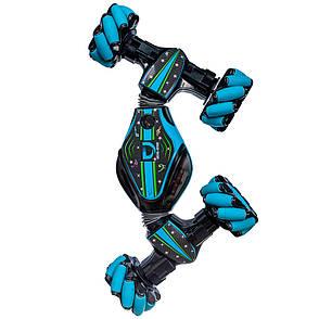 Трюковая машинка-багги на управлении от руки Stunt Car синяя, фото 2