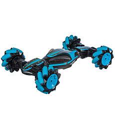 Трюковая машинка-багги на управлении от руки Stunt Car синяя, фото 3