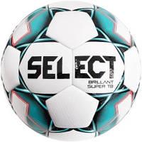 М'яч футбольний SELECT Brillant Super TB (043) білий, зелений, розмір 4