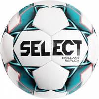 М'яч футбольний SELECT Brillant Peplica (317) бел/зел розмір 3