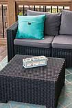 Столик садовий вуличний Allibert by Keter California Rattan Outdoor Coffee Table Brown ( коричневий ), фото 3