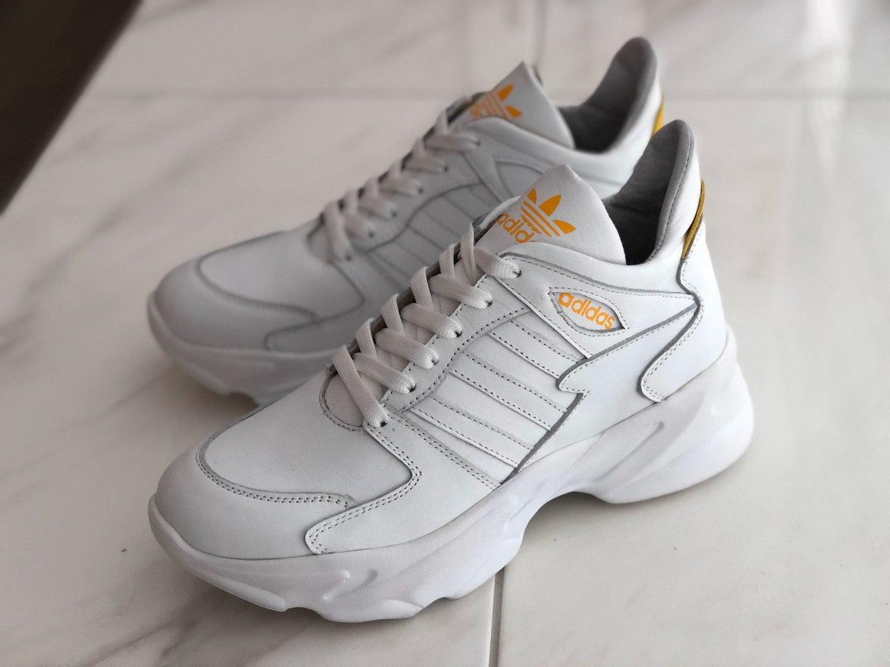 Шкіряні кросівки жіночі Adidas ADS бел розміри 36,37,38,39,40,41