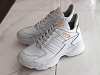 Шкіряні кросівки жіночі Adidas ADS бел розміри 36,37,38,39,40,41, фото 1