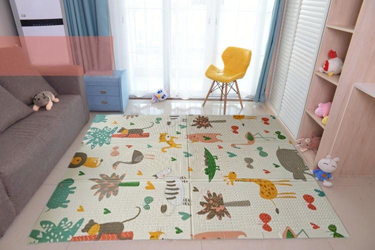 """Детский коврик """"Сафари и Подводный Мир"""" (складной развивающий коврик на пол) 1,2х1,8м (толщина 10 мм)"""