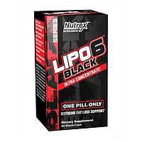 Жироспалювач Lipo-6 Nutrex Research Black Ultra Concentrate 60 капс