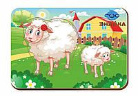 Дерев'яний вкладиш «Мама і дитя», овечки