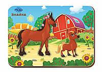 Дерев'яний вкладиш «Мама і дитя», конячки