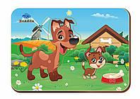 Дерев'яний вкладиш «Мама і дитя», собаки-1