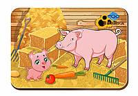 Дерев'яний вкладиш «Мама і дитя», свині