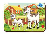 Деревянный вкладыш «Мама и детеныш», козы