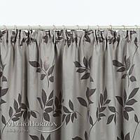 Комплект штор Dimout веточки листьев беж-серый, арт. MG-137980, 275*145 см, фото 1