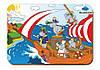 Деревянный вкладыш «Пираты-бегемоты на корабле»