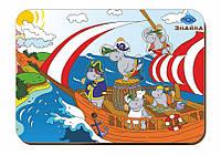 Деревянный вкладыш «Пираты-бегемоты на корабле», фото 1