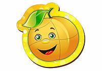 Деревянный паззл маленький, «Яблоко желтое»