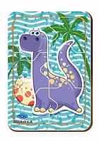 Деревянный паззл, 6 деталей «Динозавр-3»