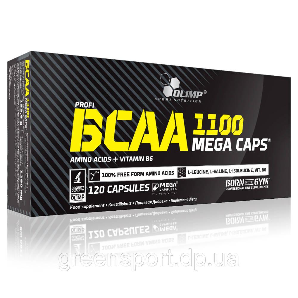 BCAA аминокислоты Olimp BCAA 1100 Mega Caps 120 капсул