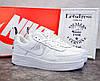 Женские кожаные кроссовки Nike air force 1 low white, найк аир форс белые подростковые аір форси 39 - Фото